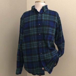 Land's End Baumwolle Plaid Shirt